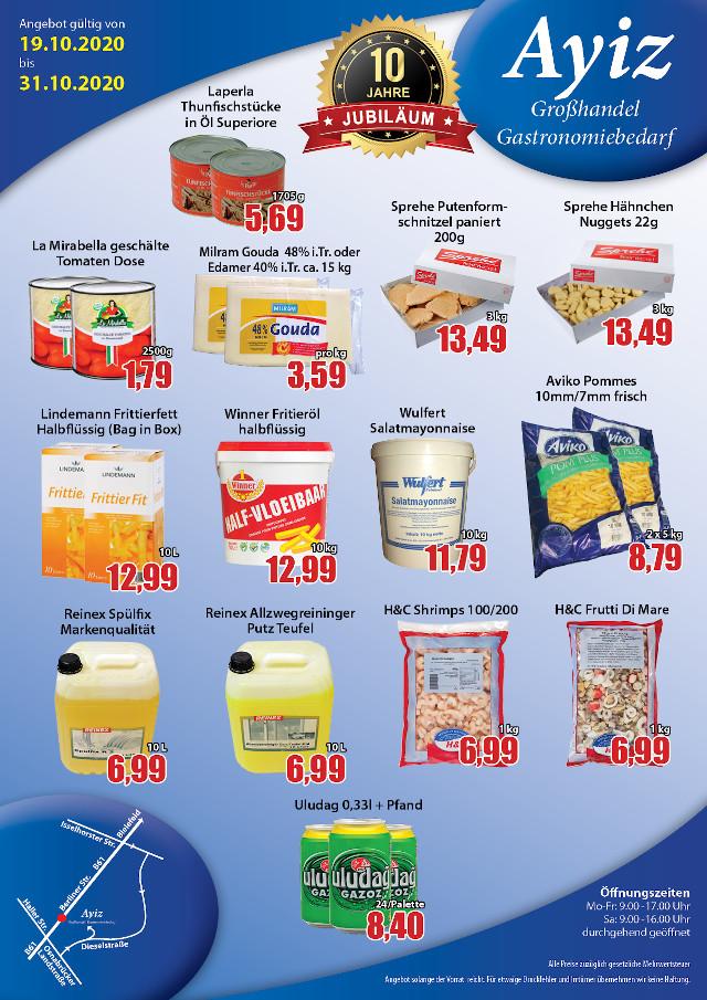 Angebote im Bereich Lebensmittel und Getränke